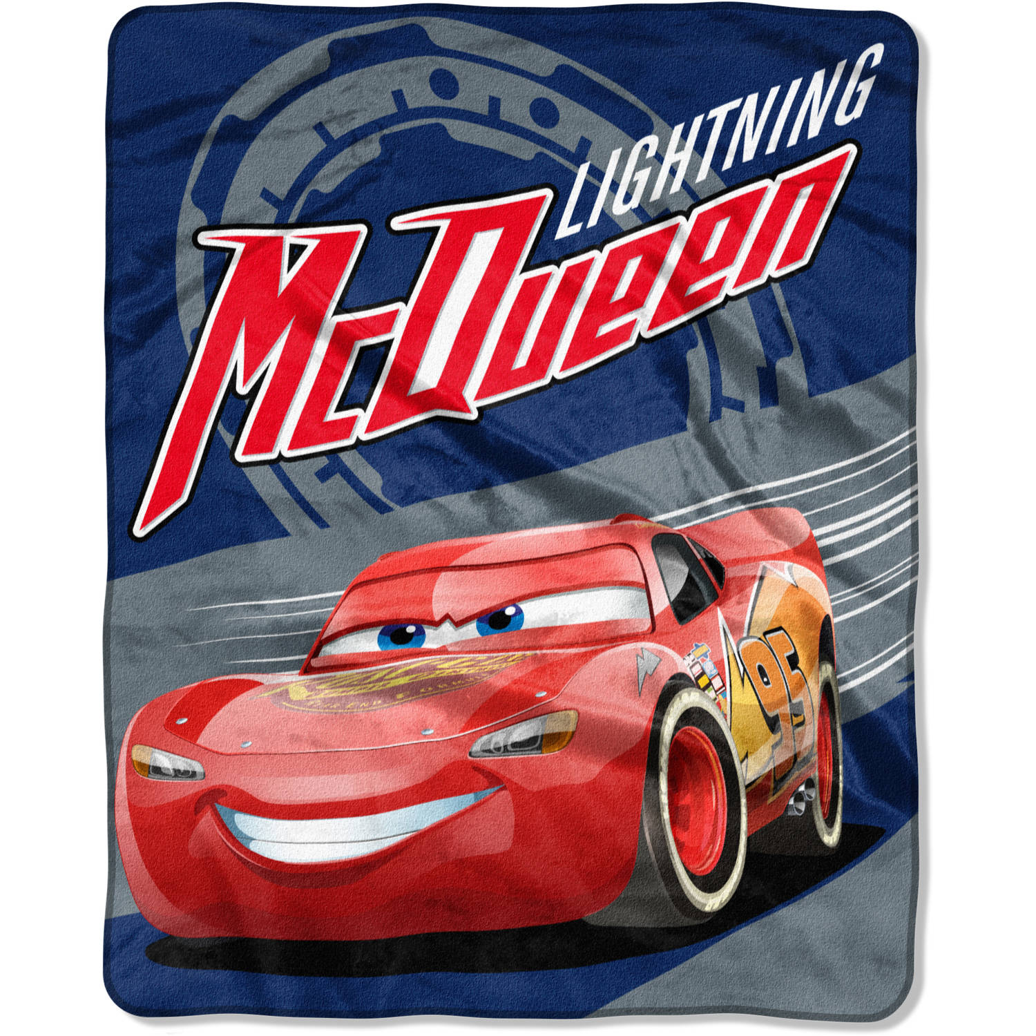 "Disney Cars ""Lightning on the Track"" 40"" x 50"" Silk Touch Throw"