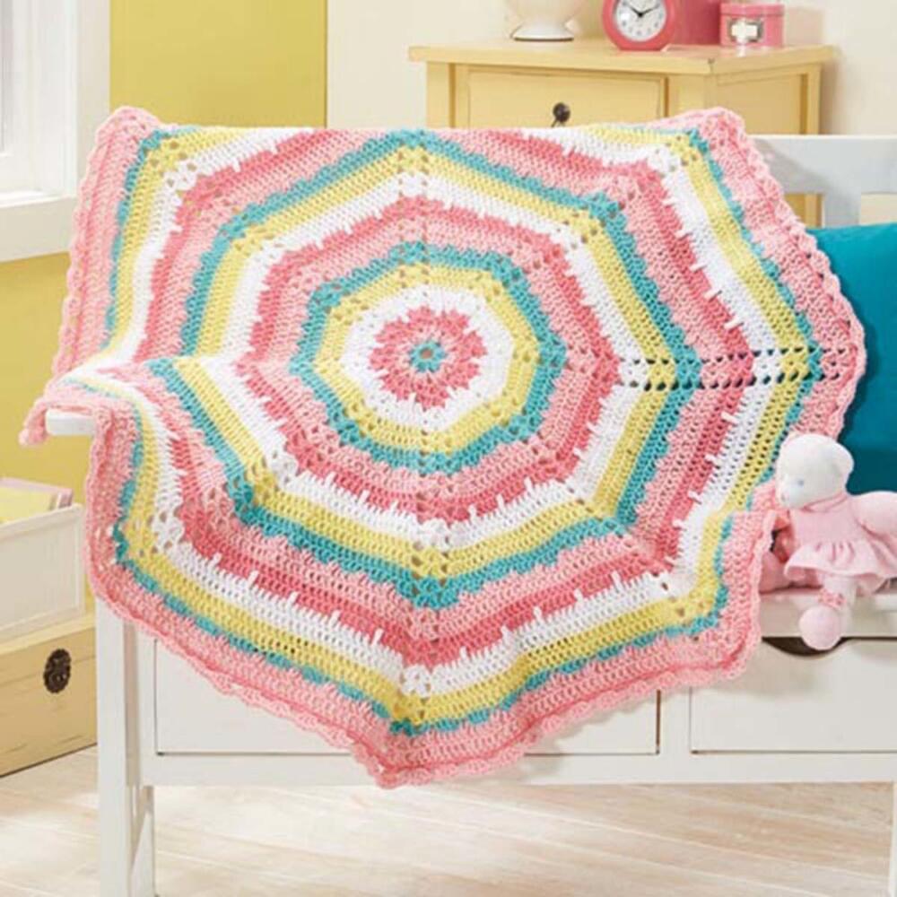 Herrschners Cutie Patootie Blanket 2-Pack Crochet Afghan Kit