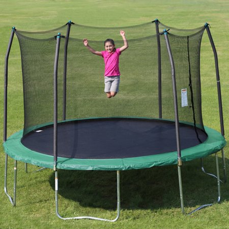 Skywalker Trampolines 12-Foot Trampoline, with Safety Enclosure, Green