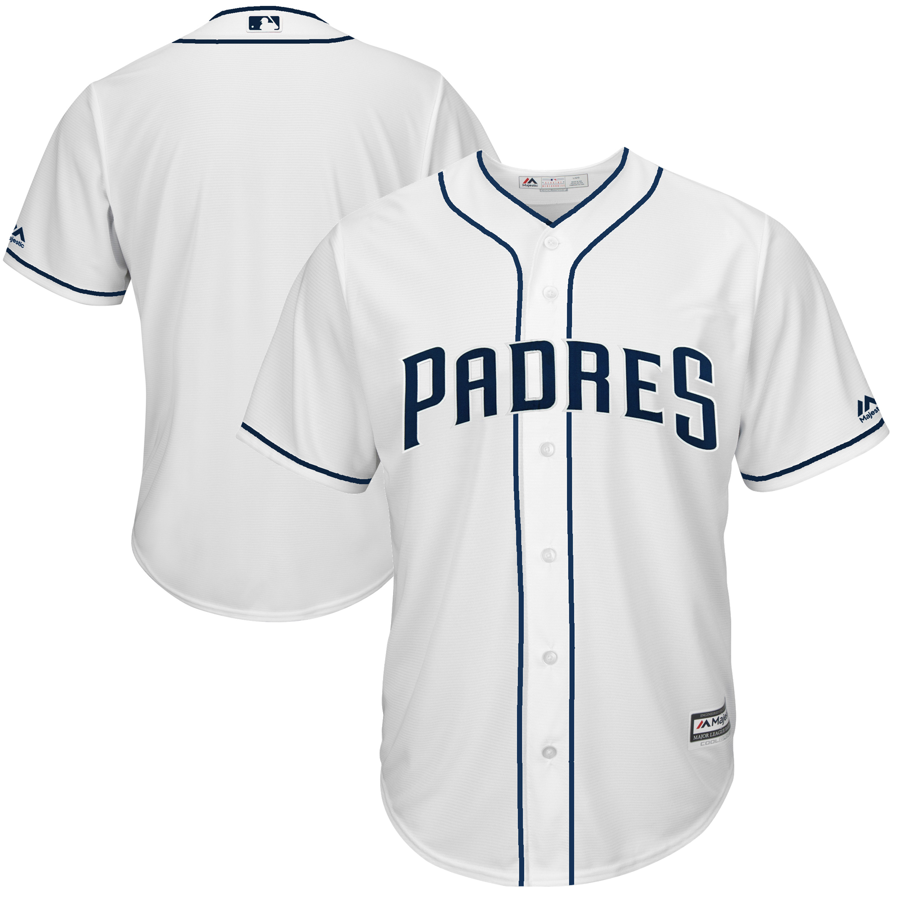 San Diego Padres Majestic Cool Base Team Jersey - White-