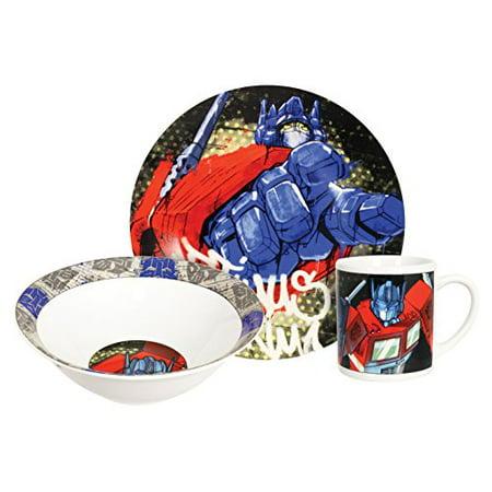 Hasbro Transformers Optimus Prime Dinner Set, Multicolor, 3-Piece