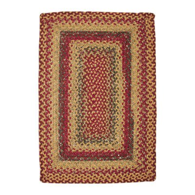 Primitive Cotton Braided Area Rugs Oval Rectangle 20x30-8x10 Four In Nine Patch
