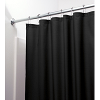 SHOWER CURTAIN-LINER BLK POLY