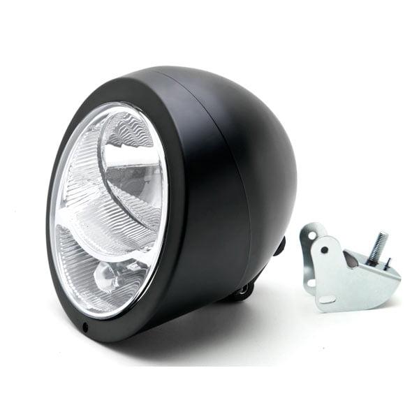 Krator Motorcycle Custom Black Headlight Head Light For Harley Davidson XL 883 Hugger Sportster