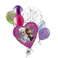 7 pc Disney Frozen Elsa Anna Balloon Bouquet Party Decoration Love Birthday