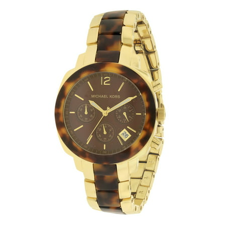 Michael Kors Wolcott Tortoise Acetate Gold-Tone Ladies Watch MK5246