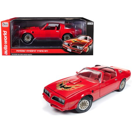 1977 Pontiac Firebird Trans Am Buccaneer Red Limited Edition to 1,002 pieces Worldwide 1/18 Diecast Model by Autoworld