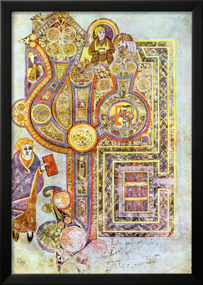 Opening Words of St Matthew's Gospel Liber Generationes, from the Book of Kells, C800... by Art.com