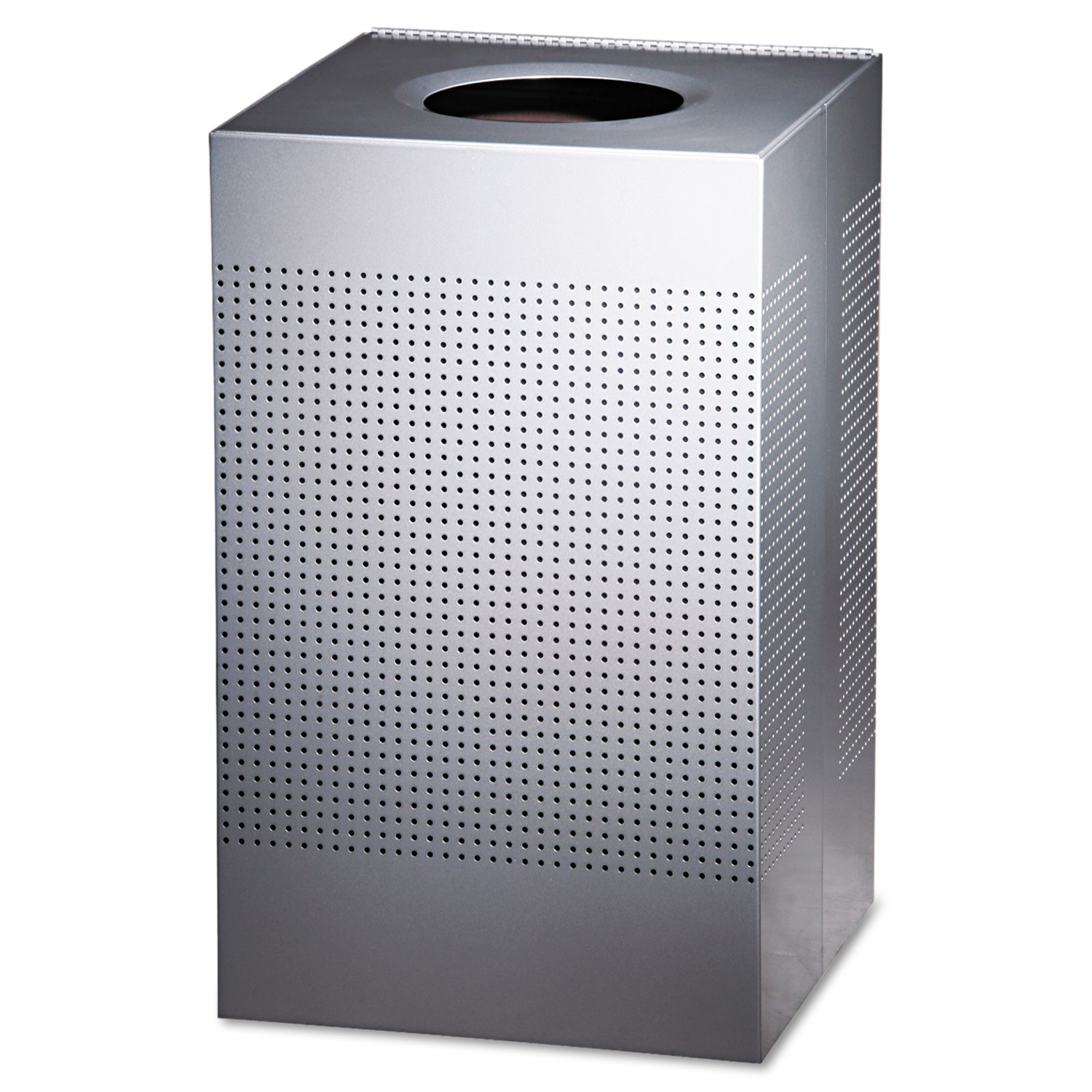 Rubbermaid Commercial Designer Line Silhouettes Steel Trash Receptacle, 29 gal