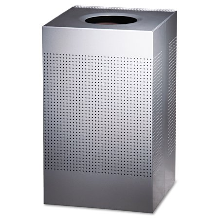 Rubbermaid Commercial Designer Line Silhouettes Steel Trash Receptacle, 29 -