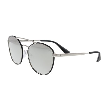Prada PR63TS 1AB2B0 Shiny Black Aviator (Prada Aviator Sunglasses Sale)