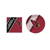 Arizona Cardinals 20 Pc Disposable Paper Plates And 20 Pc Disposable Napkins