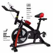 Exercise Bike Stationary Cycling Cardio Workout Fitness LED Screen by
