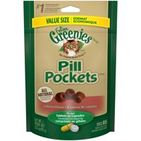 Feline Greenies Pill Pockets Salmon Cat Treats (Various Counts)