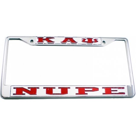 Kappa Alpha Psi Nupe License Plate Frame Silverred Cartruck