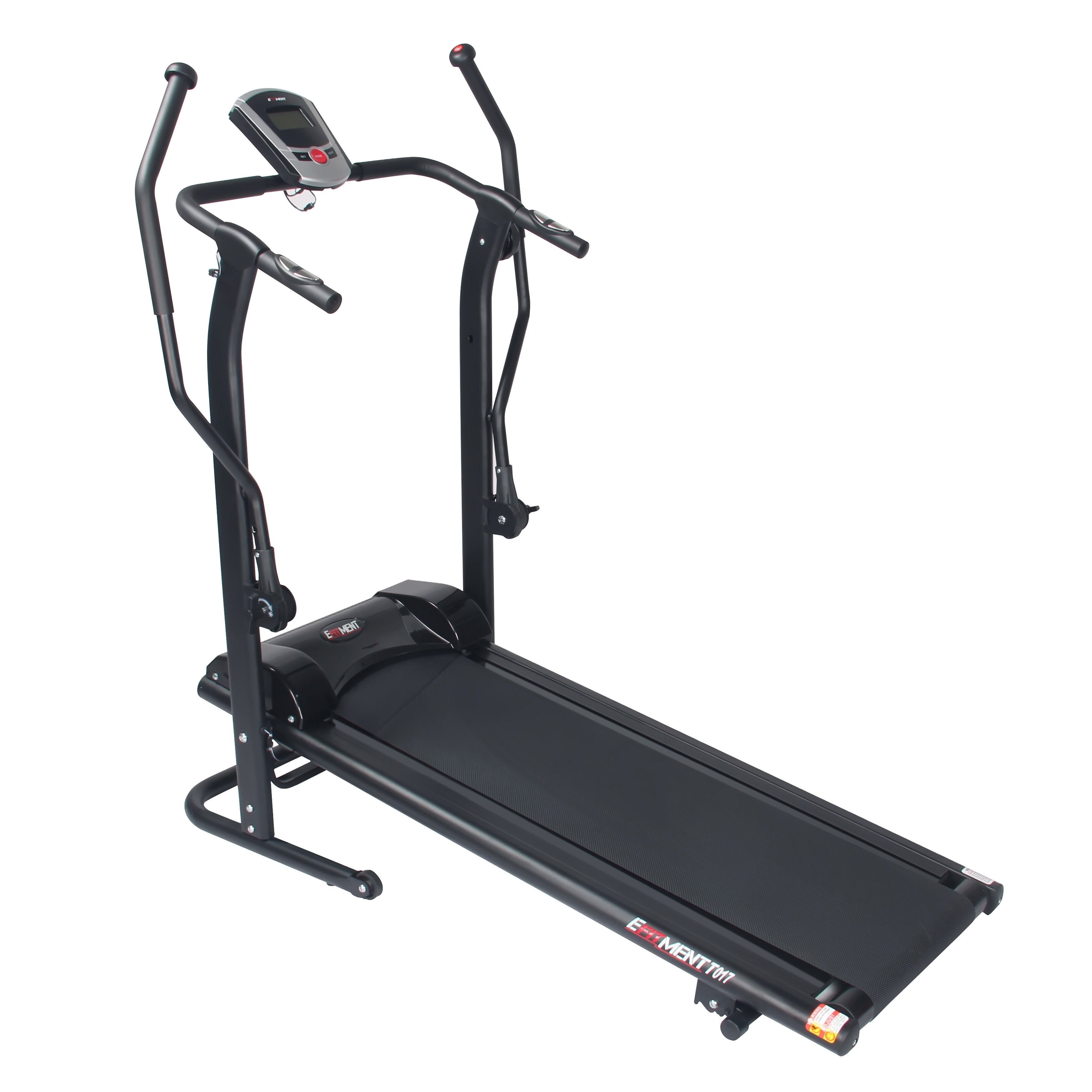 Adjustable Incline Manual Treadmill with Arm Exercisers and Pulse Monitor by EFITMENT - T017
