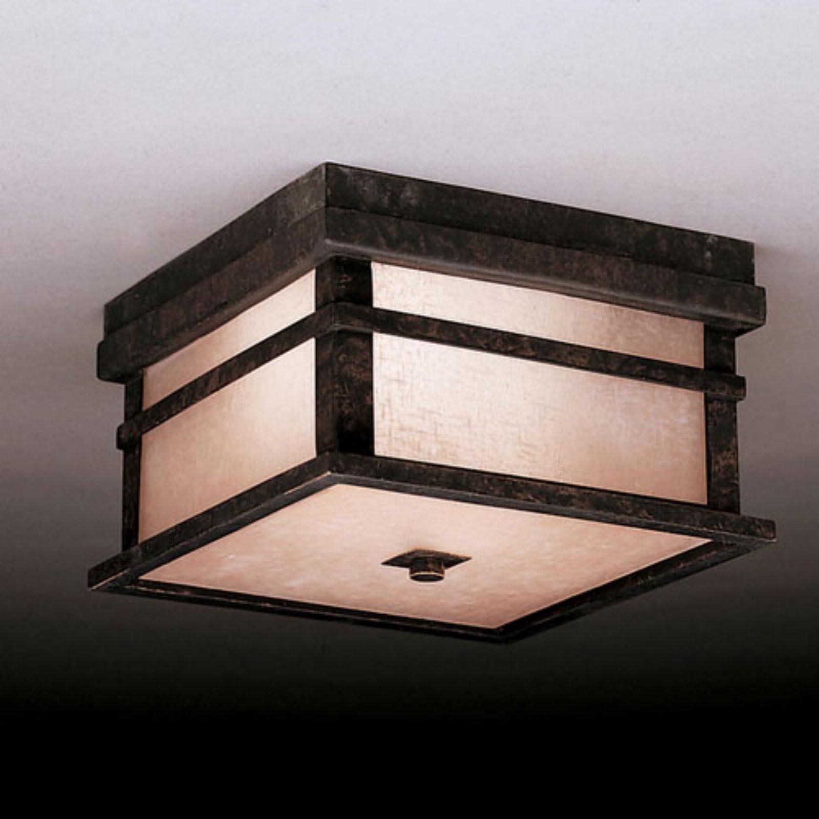 Kichler Cross Creek Outdoor Ceiling Light - 5.5H in. Aged Bronze