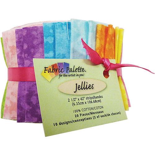 "100 percent Cotton 2.5"" x 42"" Fabric Palette Jellies Cuts, 20pk"