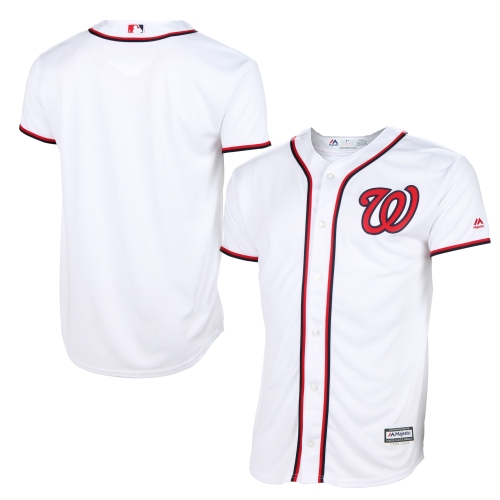 Washington Nationals Majestic Youth Official Cool Base Jersey - White