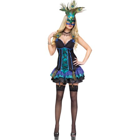 Morris Costumes Adult Womens Animals & Insects Peacock Costume XS, Style FW121884XS