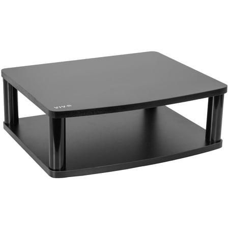 VIVO Black TV Display Rotating Tabletop Stand Swivel Mount for 13