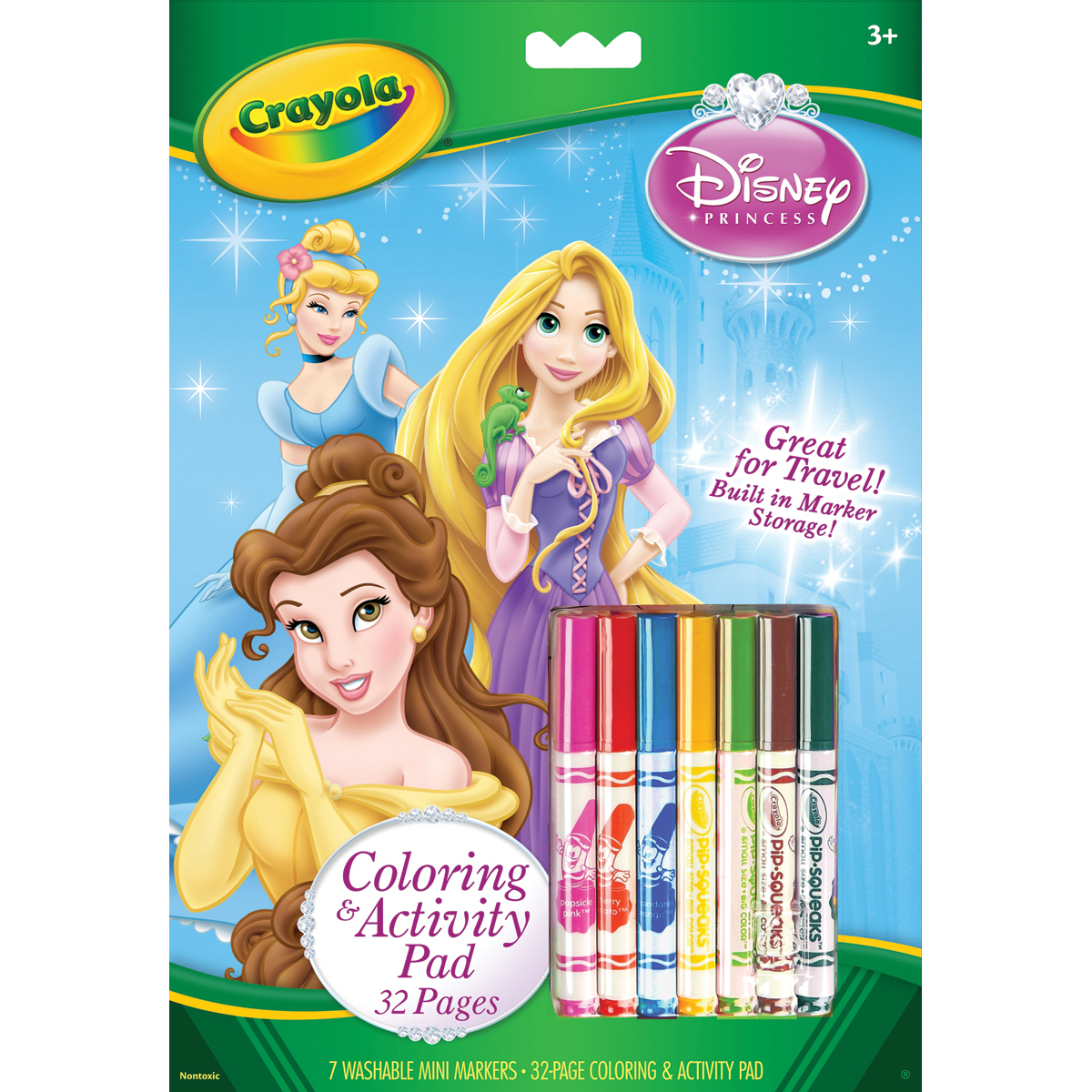 Crayola Coloring & Activity Pad W/Markers-Disney Princess