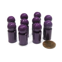 Koplow Games Set of 10 Ball Pawns 30mm Peg Pieces for Board Game Play - Purple #04198