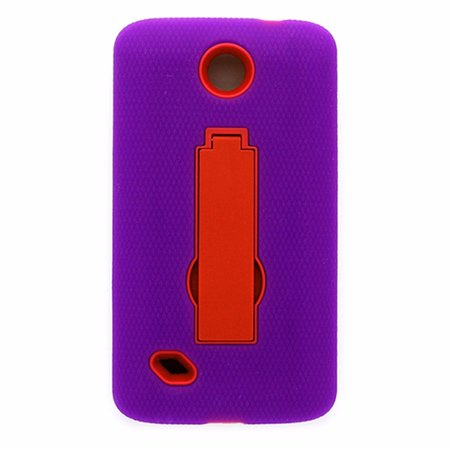 Open Mobile Hybrid Case with Stand for Unimax Purple and Pink