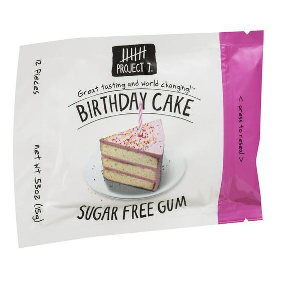 Project 7 Sugar Free Gum Birthday Cake 12 Ct Walmart