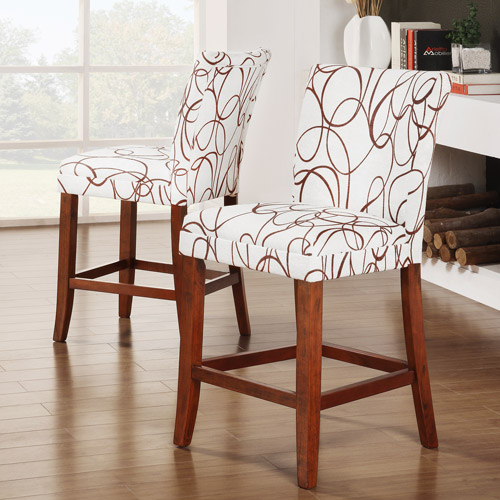 Swirl Print Counter Stool 24 In Set Of 2 Walmart Com