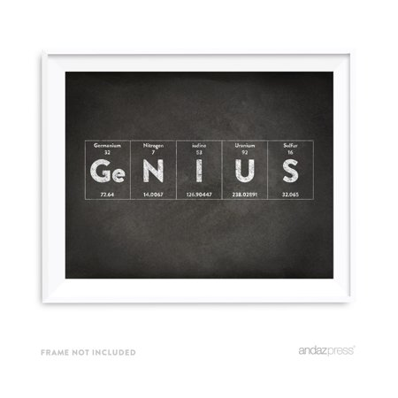 Genius Periodic Table of Elements Vintage Chalkboard Wall Art Décor (Vintage Periodic Table)