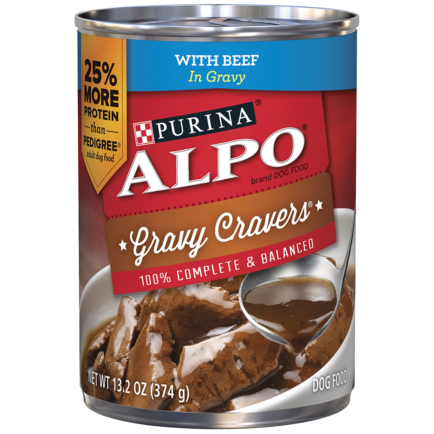 Purina ALPO Gravy Cravers with Beef Wet Dog Food, 13.2 Oz.