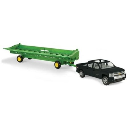 - TOMY John Deere Big Farm 1:16 Chevy Pickup with John Deere 512C Corn Head and Header Cart