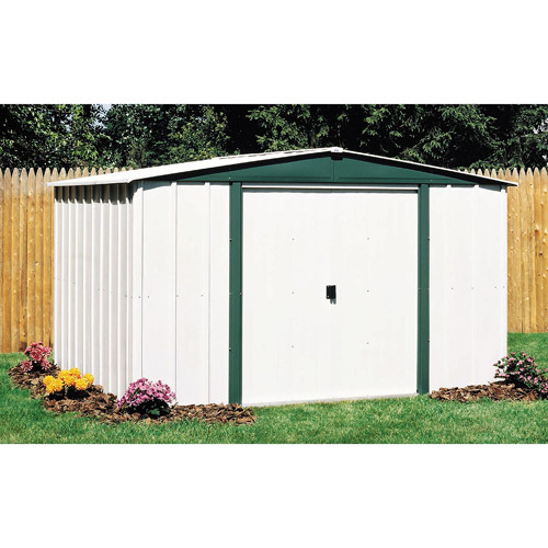 Garden Sheds 10 X 8 arrow hamlet 10' x 8' steel storage shed - walmart