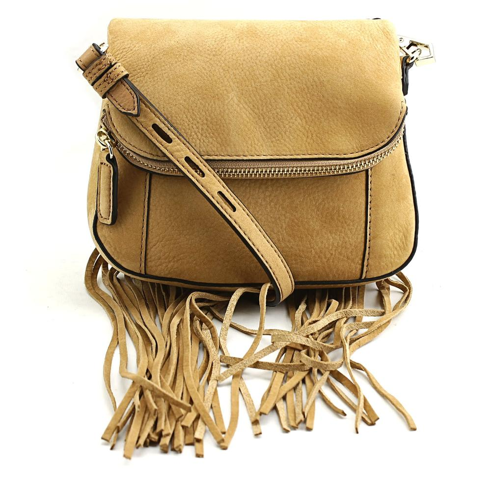 Rebecca Minkoff Mini Crosby Crossbody Bag w\/ Fringe Women Messenger