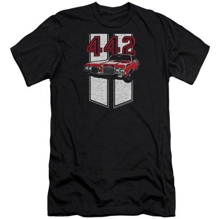 Oldsmobile 442 Hurst Set (Oldsmobile Men's  442 Slim Fit T-shirt Black )