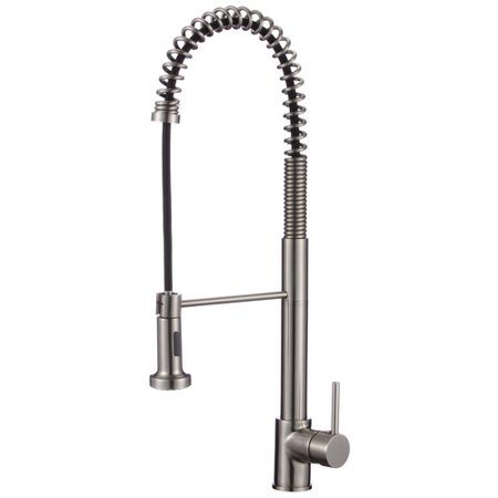 upscale designs by ema single handle kitchen faucet with side spray