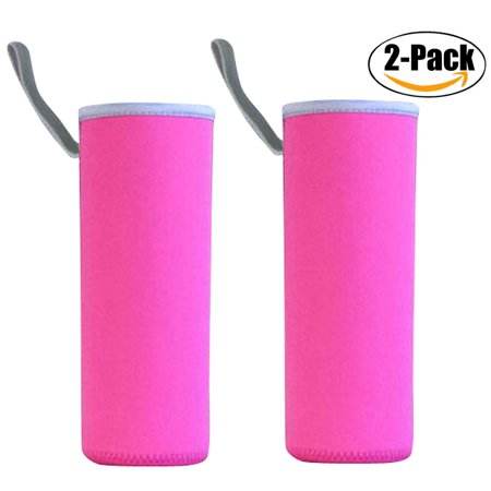 2 Pack Water Bottle Cover, Outgeek 550ml Neoprene Insulator Cooler Water Bottle Cover Water Bottle Sleeve Holder