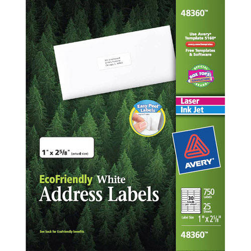 Avery Eco-Shipping Label, White, 750ct