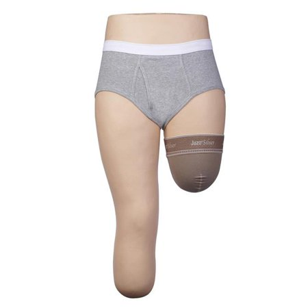 Juzo Silver Sole Support Socks - Juzo 3561 Silver Above Knee Stump Shrinkers - 20-30 mmHg  Medium JUZO3561FGMSB-P