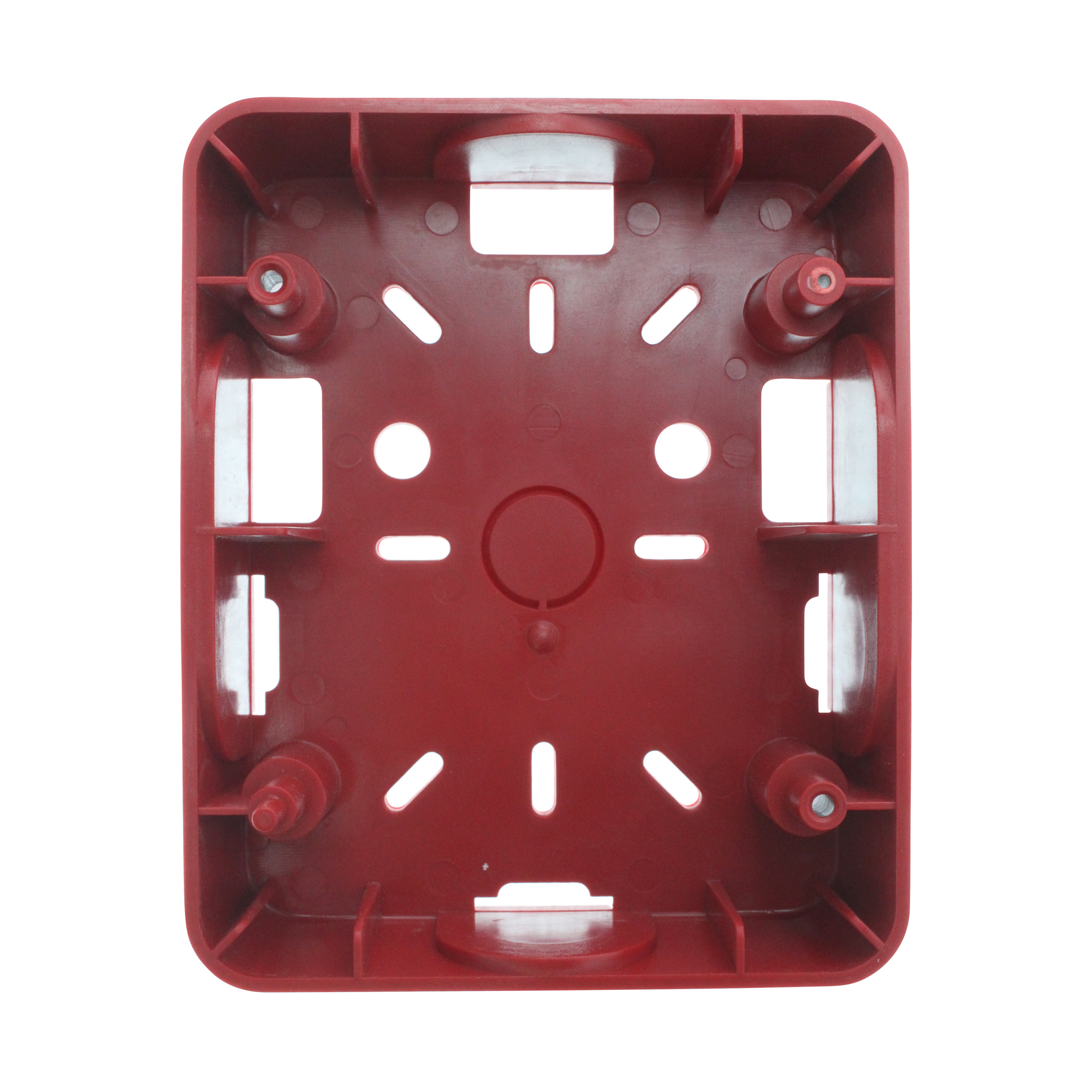 Bosch GSB Surface Mount Alarm Device Back-Box, Red, Plastic, 1/2-Inch KO's