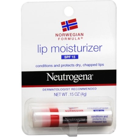 Neutrogena Lip Moisturizer SPF 15 0.15 oz (Pack of (Best Lip Moisturizer For Winter)