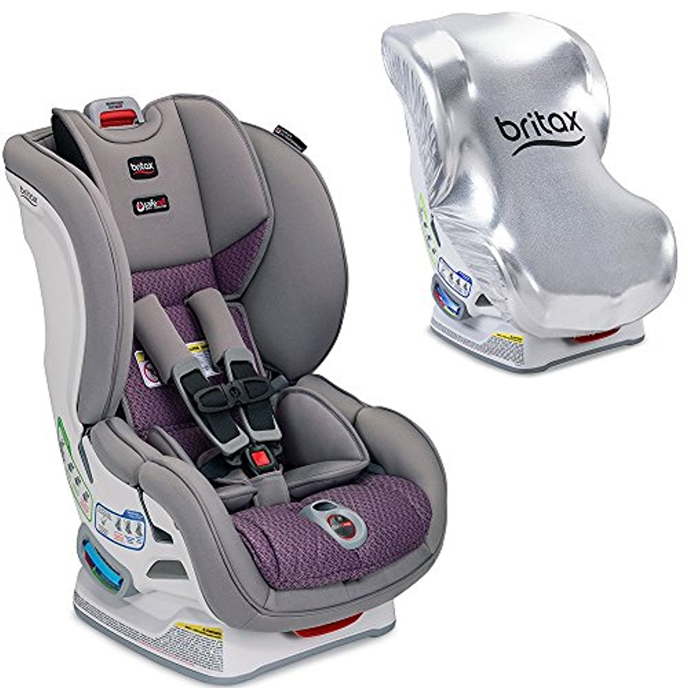 Britax USA Marathon ClickTight Convertible Car Seat with Sun Shield, Twilight