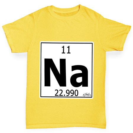 Girls T Shirt Periodic Table Element Na Sodium Funny T Shirts For