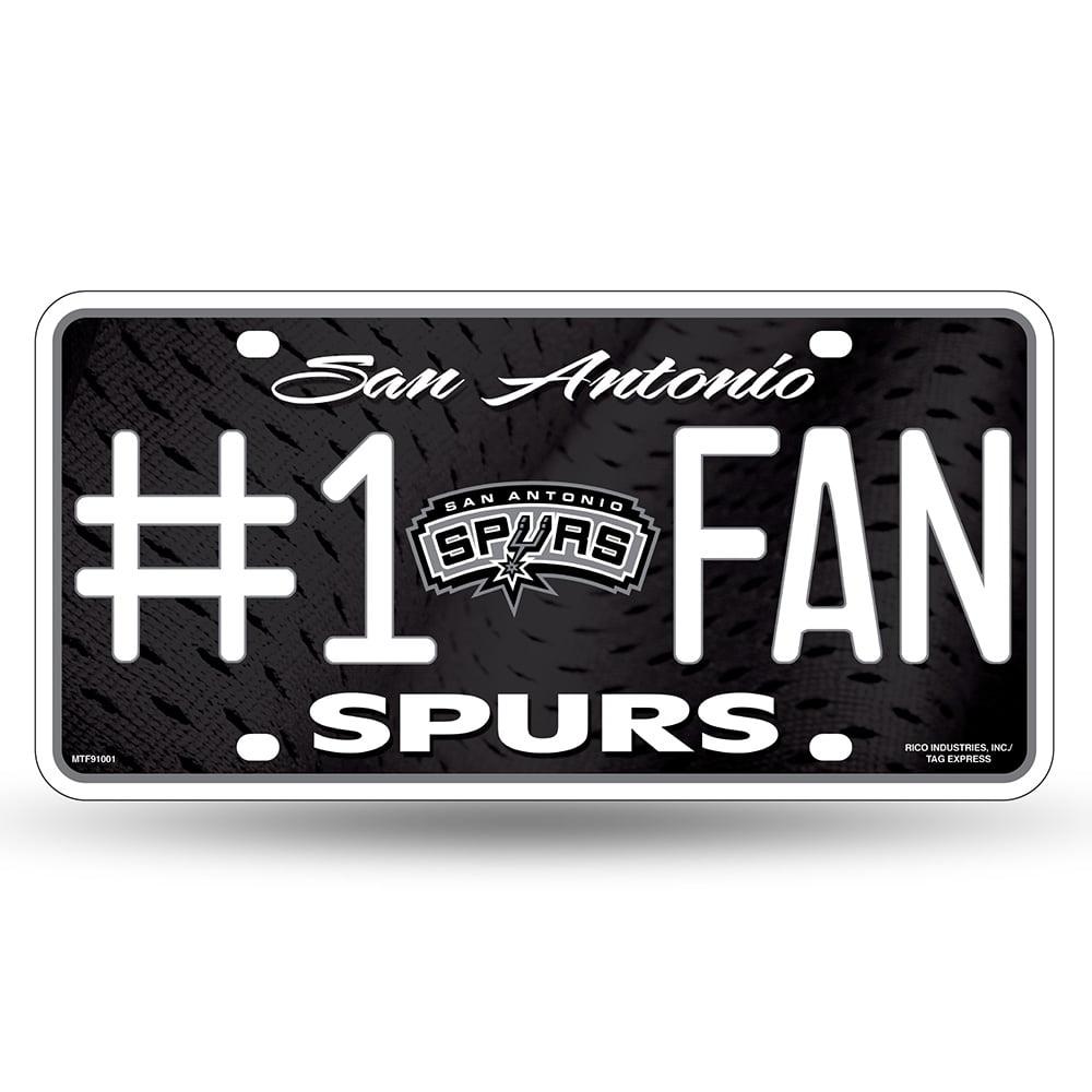 San Antonio Spurs NBA Metal Tag License Plate (#1 Fan)