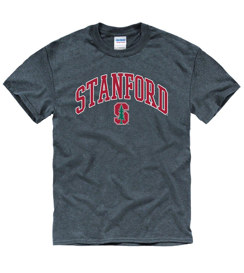 Stanford University Tall Font Men's T-Shirt-Charcoal