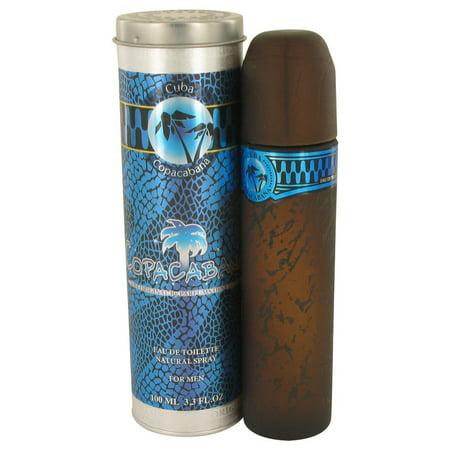Fragluxe Cuba Copacabana Eau De Toilette Spray for Men 3.4 - Cuba Black Eau De Toilette