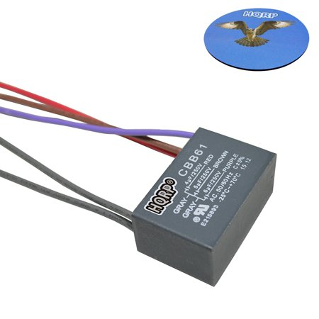 HQRP Capacitor for Harbor Breeze Ceiling Fan 4uf+5uf+6uf 5-Wire plus ...