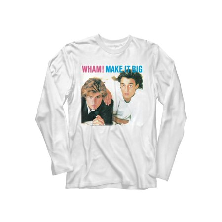 Wham English Music Duo Make It Big Adult Long Sleeve T-Shirt Tee
