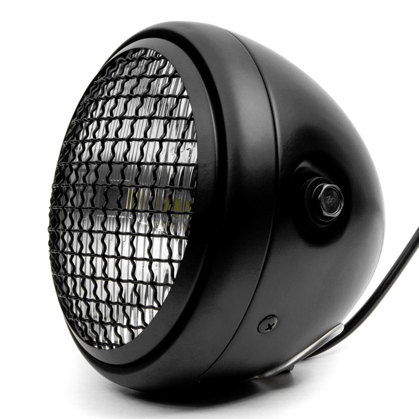 "Krator 7"" Black LED Motorcycle Headlight w/ Side Mounting Running Light High / Low Beam for Kawasaki Mach 500 750 KH S3 Trial Boss - image 6 de 7"